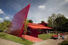 Serpentine Pavilion 2010, Jean Nouvel with Cecil Balmond.