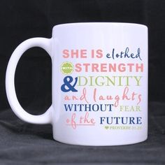 Bible Verse: Proverbs 31:25 She Is Clothed With Strength And Dignity mug11 ouncesbest Custom White Mug ** Hurry! Check out this great product : Cat mug
