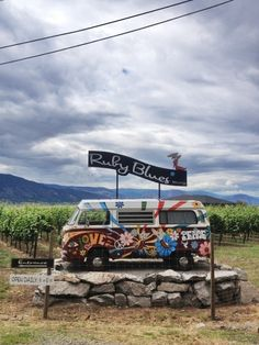 Where to go buy amazning wine! VW Bulli at Ruby Blues Winery, Penticton / Naramata, BC, Canada, Okanagan Lake Volkswagen vintage camper / bus Best Places To Travel, Places To See, Canada Travel, Canada Trip, Mountain Bike Trails, Wine Time, Camping Life, Travel Alone, Wine Country