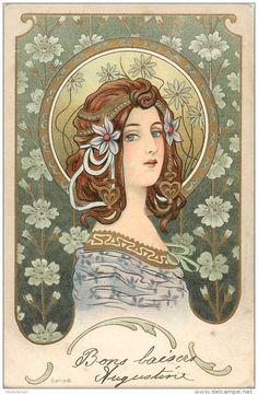 Illustrators & photographers - Fantaisie - Illustrateur - Style Art Nouveau - Style Mucha - Série 46