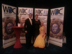 Wereld kampioenen rolstoeldansen met Alex en Jacqueline Glijn en hun coach Gerrie van Dijk