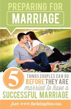 Advice for preparing for marriage. This is right on! Love it! www.TheDatingDivas.com