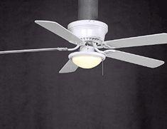 Hampton Bay Hugger 52 in. White Ceiling Fan with Light Ceiling Fans For Sale, Vintage Ceiling Fans, Best Ceiling Fans, Light Fixtures Bedroom Ceiling, Outdoor Light Fixtures, Pendant Light Fixtures, Ceiling Lights, Hunter Douglas, Hugger Ceiling Fan