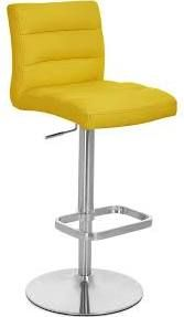 $180 yellow leather Counter Stool - Google Search