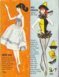 Barbie Movie Date #933 de 1962 à 63 & Masquerade #944 de 1963 à 64