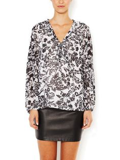 Scarf Tie Blouse