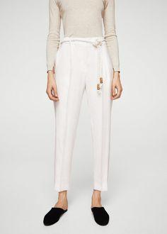 Drawstring baggy trousers - Woman | MANGO United Kingdom