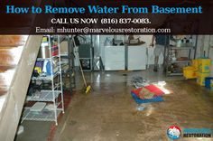 How to Remove Water From Basement
