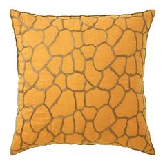 Giraffe Pillow in Marigold (Patterned Pattern, decorative pillows) | Room Furnishing Accessories, Accent Pillows from Company C (New)