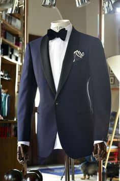 Navy Tux + Bow Tie for #NYE