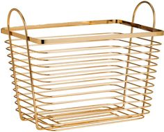 H&M - Large Wire Basket - Gold-colored
