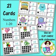 This monster themed ten frame number recognition Clip It or Task It card set makes for an engaging math center activity for year around fun.  Use this set as clip cards and your students will practice matching the correct number with the ten frame image on the cards and enhance their fine motor skills at the same time. Just add clothespins and let the fun begin.  Use this set as task cards with the recording sheet and answer key and students can record their answers and self check their…