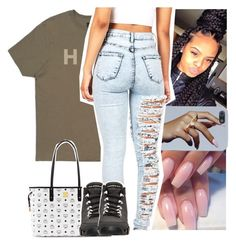 """"""".."""" by naebreezy ❤ liked on Polyvore featuring HUF, MCM, Retrò, women's clothing, women, female, woman, misses and juniors"""