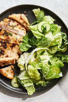 Asian Recipes, New Recipes, Dinner Recipes, Cooking Recipes, Favorite Recipes, Healthy Recipes, Summer Recipes, Napa Salad, Ginger Chicken
