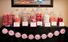 """Engagement party idea...""""Love is Sweet"""" candy bar."""