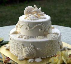 Beach Wedding Cake Decorations | luxury wedding dress 30th wedding anniversary invitation wording ...
