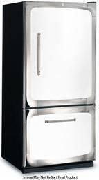 """3015-00R-WHT 30"""" 18.5 cu. ft. Capacity Freestanding Bottom Freezer Refrigerator, Digital Temperature Control, Auto Defrost, Glass Shelves and Right Hinge Door Swing: White"""