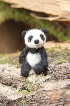 """Felted toy """"Panda miniature"""" - Игрушки из шерсти - Игрушки - Iren Adler - авторская ручная работа"""