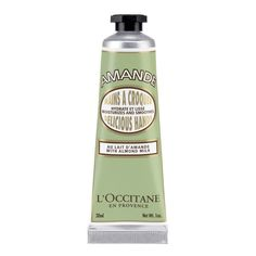 L'Occitane L'Occitane Almond Delicious Hands (1470 ALL) ❤ liked on Polyvore featuring beauty products, bath & body products, body moisturizers, beauty, fillers, makeup, cosmetics, green, body moisturizer e l'occitane