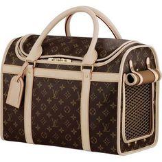Louis Vuitton Monogram Canvas Dog Bag 40 M42024 OK Ray we totally need this! ;)
