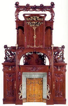 Italian Art Nouveau fireplace