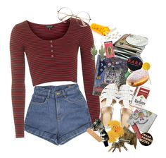 """""""Last Days Of School (tag)"""" by nymphdreams ❤ liked on Polyvore featuring Topshop, ASOS, Aesop, Rosita Bonita and country"""