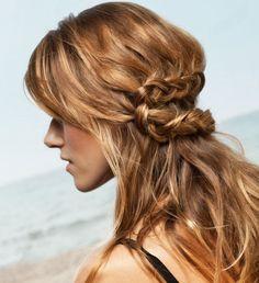 Hair braid unkempt