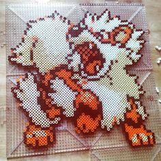 Arcanine Pokemon perler beads by nerdy_gg