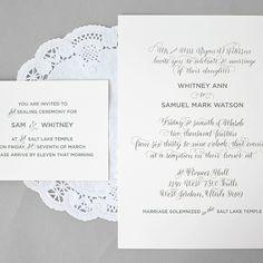 Calligraphy: Whitney's Wedding Invitations