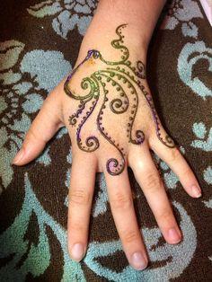"Octopus henna by ""Z"" Face & Body Art"
