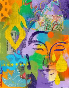 Buddha by Elizabeth Rosen Buddha Zen, Buddha Buddhism, Buddhist Art, Buddha Painting, Les Religions, Art Sculpture, Zen Art, Indian Art, Love Art