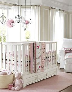 Girls Nursery Idea - Click image to find more Kids Pinterest pins