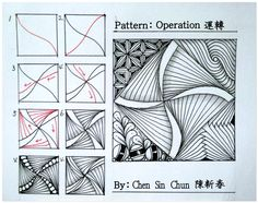 Operation ? Zentangle doodles how to Tangle: Pattern Tutorial #Tutorial #zentangle #tangle Zentangle Steps | ZenTangle Instructions /Steps /How To /Patterns / Tags: tangle zentangle zendoodle tanglepattern zentangleinspiredart