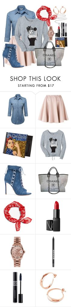 """International Women's Day"" by velvy ❤ liked on Polyvore featuring Giamba, Oscar Tiye, Chanel, rag & bone, NARS Cosmetics, Rolex, Christian Dior, Liberty and Tiffany & Co."