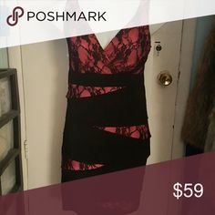 Torrid Black/Pink Lace Dress size 12 torrid Dresses