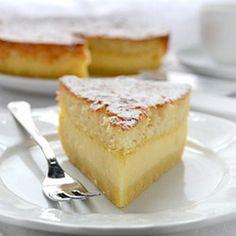 1 Teig, 3 Schichten, Vanille-Aroma, Schmelze-in-your-Mund Kuchen.