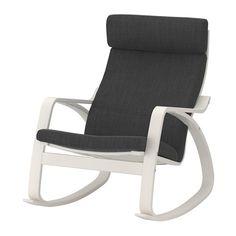 IKEA - POÄNG, Keinutuoli, Hillared antrasiitti, , Erilaisten vaihdettavien pehmusteiden ansiosta POÄNG-tuolin ja koko huoneen ilmettä on helppo uudistaa.Koivuinen liimapuurunko on erittäin kestävä ja tukeva.Korkea selkänoja tukee hyvin niskaa.Helppo pitää puhtaana konepestävän irtopäällisen ansiosta.