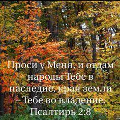 Проси у Меня, и отдам народы Тебе в наследие, края земли – Тебе во владение. (Псалтирь 2:8 RSZ)