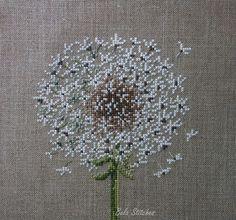 Dandelion cross stitch