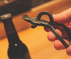 Blacksmith Forged Bottle Opener on http://www.gearculture.com