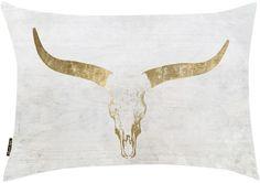 Oliver Gal Evening Desert Skull Sand Pillow