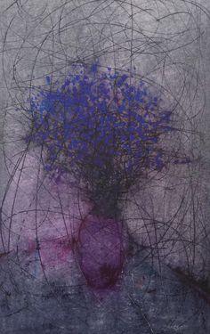 "Oil pastel by George shipperley "" Flower Power """