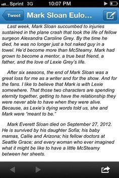 oh how I miss mark Sloan!