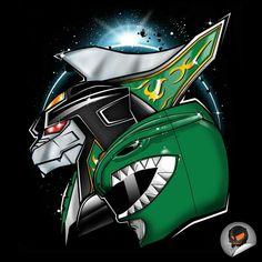 Dragonzord and Green Ranger #SonGokuKakarot