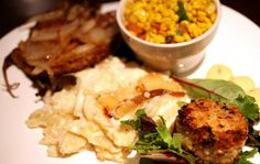 Have a soulful meal with the Ultimate Feast at Zanzibar Soul Fusion (13114 Shaker Square, Cleveland, 216-916-9422, zanzibarohio.com), with a walleye cake paired with a grilled pork chop, served over a bed of special potatoes. (Also served with salmon or chicken.)