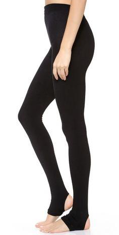 Black Legale Fleece L//XL Tights Ladies Fleece Lined Plush Warm Winter Tight NEW