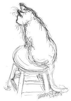 The Creative Cat - Daily Sketch Reprise: Off Center, 2013