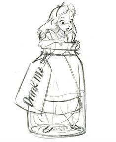 \'\'Drink Me\'\' Alice in Wonderland Ornament - Product Image #2 - Sketch