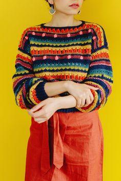 Eclectic Jumper Crochet pattern by The Missing Yarn - Cassie Ward Crochet Jumper Pattern, Cardigan Au Crochet, Jumper Patterns, Cardigan Pattern, Knitting Patterns, Crochet Patterns, Pull Crochet, Love Crochet, Crochet Hooks