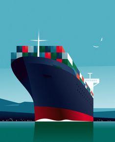 Ship Vector, Vector Art, Design Transport, Diy Canvas Art, Art Plastique, Mandala Art, Landscape Art, Army Pay, Design Art